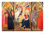 Triptych with the Annunciation and Saints Lawrence, Benedict, John the Baptist and Nicholas