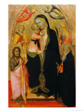 Madonna and Child Enthroned with Saints Giclee Print