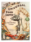 Food Choppers Mincers the Universal Cooking Appliances Gadgets, USA, 1890