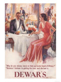 Dewar's, Whiskey Alcohol Dinners, UK, 1930