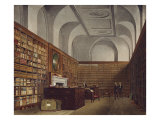 The King's Library, Buckingham House, Hand Coloured Plate from The History of Royal Palaces, 1819