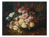 Mixed Bouquet of Roses. Bischoff, 1915