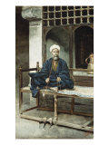 Arab, Holding Prayer Beads and Smoking a Pipe