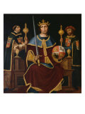 Saint Ferdinand Enthroned with Two Courtiers
