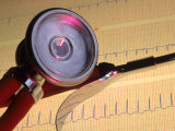 Still Life Stethoscope with ECG Strip