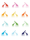 Rainbow Giraffes