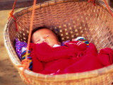 Sleeping Baby in Hanging Basket, Hue, Vietnam