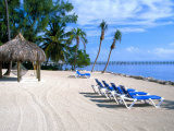 Beach Huts and Chairs, Florida Keys, Florida, USA