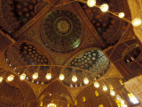 Ornate Ceiling with Hanging Lamps, Muhammad Ali Mosque, The Citadel, Cairo, Egypt