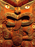 Historic Maori Carving, Otago Museum, New Zealand