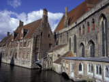 Hans Memling Museum on the River Dijver, Bruges, Belgium