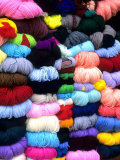 Wool and Fabric Yarn in Town, Cuzco, Peru