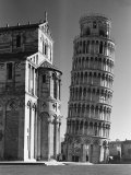 Buy Famed Leaning Tower of Pisa Standing Next to the Baptistry of the Cathedral at AllPosters.com