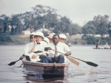 Dr. Albert Schweitzer Going Down the Ogowe River to Lambarene for His Birthday Celebration