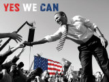 Barack Obama:  Yes We Can Art Print