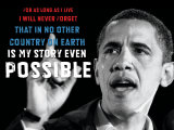 Barack Obama: My Story Art Print