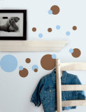 Just Dots - Light Blue & Brown Wall Decal