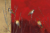 Sparrows in Willow Art Print