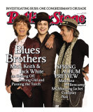 Blues Brothers: Mick, Keith, and Jack White, Rolling Stone no. 1050, April 2008