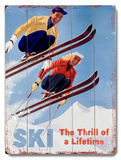 Ski - The thrill of a Lifetime Wood Sign