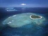 Aerial View of Tropical Island, Tavarua Island, Fiji