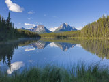 Whirlpool Peak, Mt. Fryatt and Leech Lake, Jasper National Park, Alberta, Canada