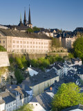 Lower Town, View of Grund, Luxembourg City, Luxembourg