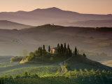 Farmhouse, Val D' Orcia, Tuscany, Italy Photographic Print