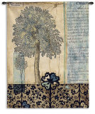 Blue Autumn Wall Tapestry