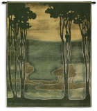 Nouveau Trees Wall Tapestry