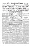 New York Times, December 8, 1941: Pearl Harbor