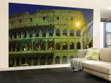Buy Ancient Building Lit Up at Night, Coliseum, Rome, Italy at AllPosters.com