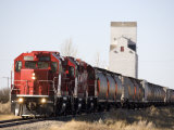 Head on View of a Freight Train, Saskatchewan, Canada