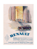 Renault, Magazine Advertisement, USA, 1930