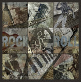 Rock & Roll 9-Patch Art Print