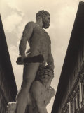 Hercules and Cacus, Statue by Baccio Bandinelli, Conserved in the Piazza Della Signoria in Florence