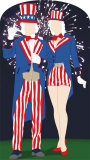 Aunt and Uncle Sam Stand-In Cardboard Cutouts