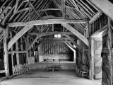 View of the Interior of the Mayflower Barn from a Story Concerning William Penn