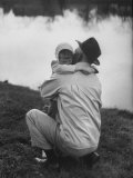 WWII Veteran Harold Lumbert Consoling His Daughter Sue