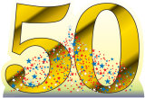 Number 50 Birthday Party Lifesize Standup Cardboard Cutouts