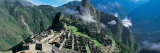 View of Ruins of Ancient Buildings, Inca Ruins, Machu Picchu, Peru