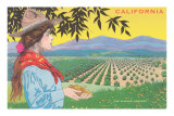 Woman Holding Almonds, California