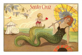 Mermaid with Parasol, Santa Cruz, California