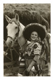 Woman with Horse, Mexican Charra