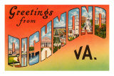 Greetings from Richmond, Virginia