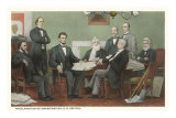 Emancipation Proclamation Signing, Lincoln and Cabinet