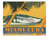 Miami to Cuba Art Print