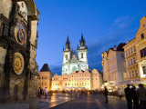 Astronomical Clock, Old Town Square and the Church of Our Lady before Tyn, Prague, Czech Republic