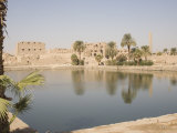 Sacred Lake, Temples of Karnak, Karnak, Near Luxor, Thebes, UNESCO World Heritage Site, Egypt