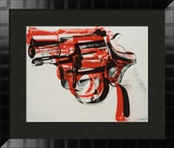 Gun, c.1981-82 (black and red on white) Framed Art Print